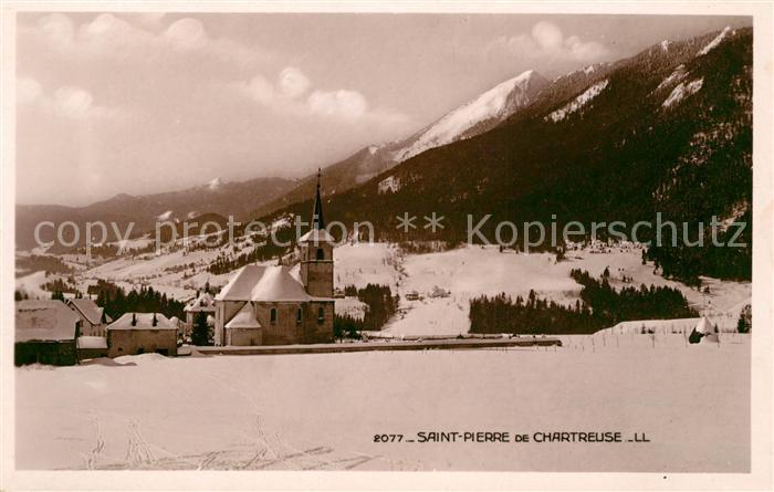 AK / Ansichtskarte Saint Pierre de Chartreuse Vue partielle et Eglise