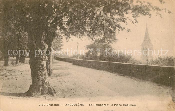 AK / Ansichtskarte La Charente Angouleme Le Rempart et la Place Beaulieu Kat. Le Fleix