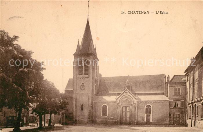 AK / Ansichtskarte Chatenay Isere Eglise Kat. Chatenay