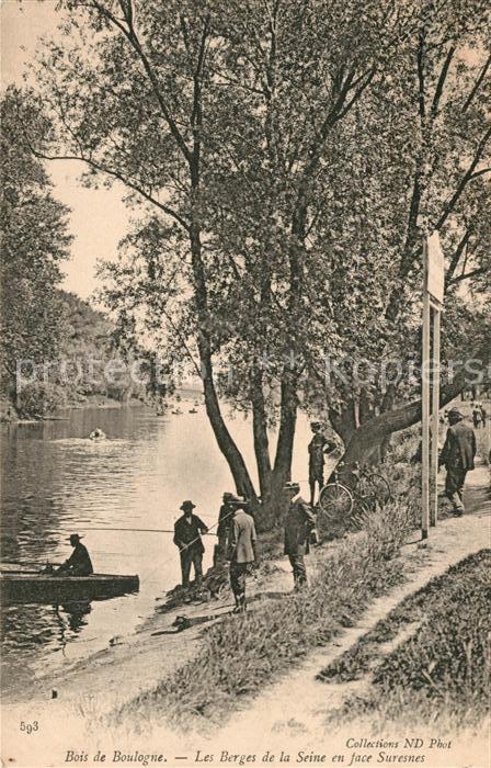 AK / Ansichtskarte Bois de Boulogne Les Berges de la Seine en face Suresnes