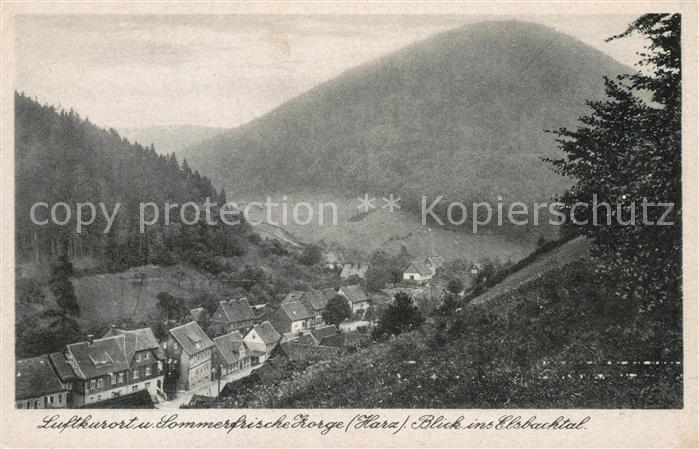 AK / Ansichtskarte Zorge Panorama Blick ins Elsbachtal Luftkurort Sommerfrische Kat. Zorge
