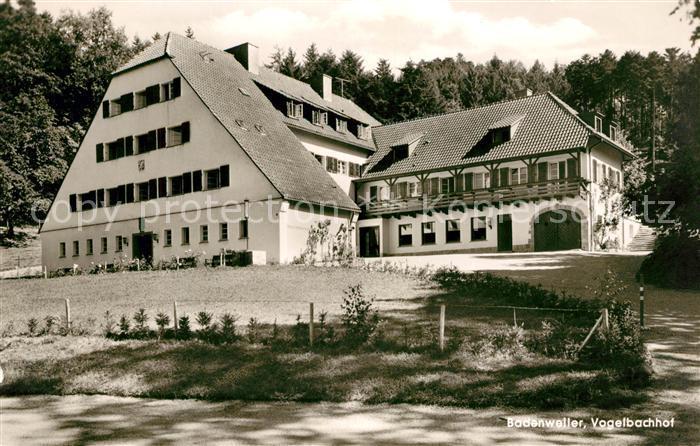 AK / Ansichtskarte Badenweiler Vogelbachhof Kurort im Schwarzwald Kat. Badenweiler