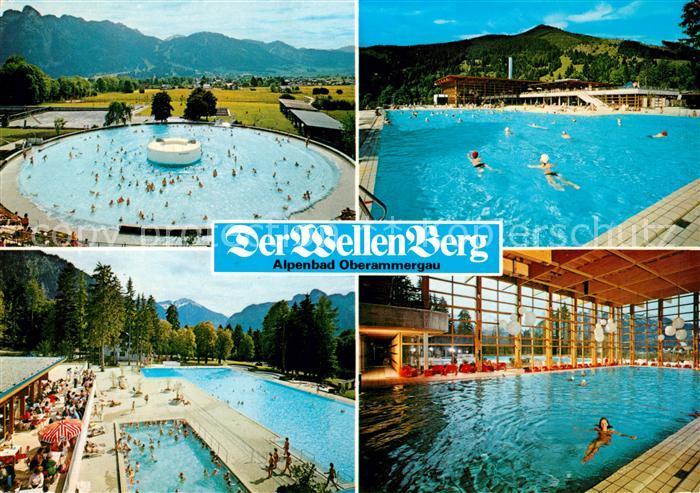 Ak ansichtskarte oberammergau alpenbad der wellenberg for Schwimmbad oberammergau
