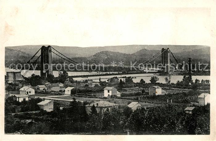 AK / Ansichtskarte Cavaillon Le Nouveau Pont sur la Durance Le plus grand pont suspendu de France Kat. Cavaillon