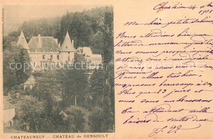AK / Ansichtskarte Chateauneuf Loire Chateau de Gensoult Kat. Chateauneuf