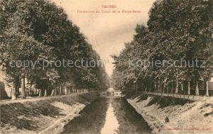AK / Ansichtskarte Troyes Aube Perspective du Canal de la Haute Seine Kat. Troyes