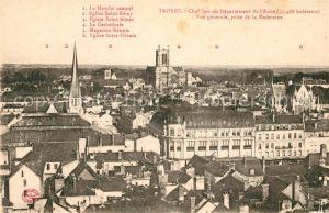 AK / Ansichtskarte Troyes Aube Marche central Eglise Saint Remy Eglise Saint Nizier La Cathedrale Magasins Reunis Eglise Saint Urbain Kat. Troyes