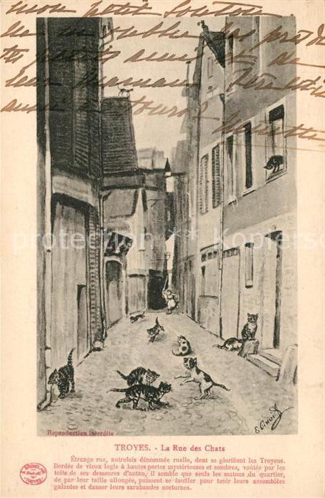 AK / Ansichtskarte Troyes Aube La Rue des Chats Kat. Troyes