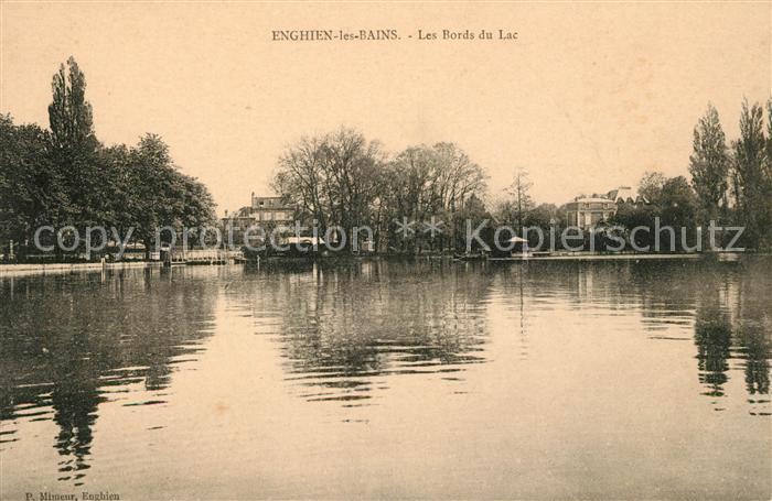 AK / Ansichtskarte Enghien les Bains Les Bords du Lac Kat. Enghien les Bains