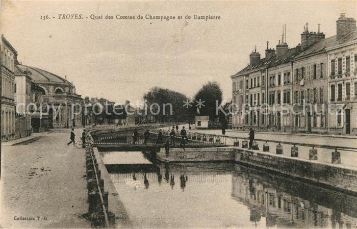 AK / Ansichtskarte Troyes Aube Quai des Comtes de Champagne et de Dampierre Kat. Troyes