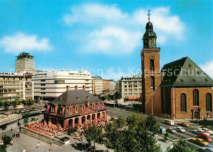 AK / Ansichtskarte Frankfurt Main Hauptwache Katharinenkirche und Fernmeldehochhaus Kat. Frankfurt am Main