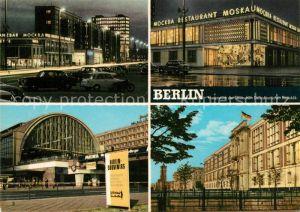 AK / Ansichtskarte Berlin Karl Marx Allee Restaurant Moskau Bahnhof Alexanderplatz Sitz des Staatsrates Hauptstadt der DDR Kat. Berlin