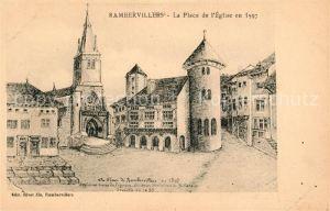 AK / Ansichtskarte Rambervillers La Place de l'Eglise en 1597 Kat. Rambervillers