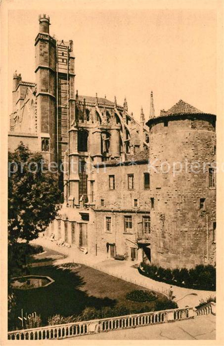 AK / Ansichtskarte Narbonne Aude Cathedrale St Just et Jardin de l'ancien archeveche Kat. Narbonne
