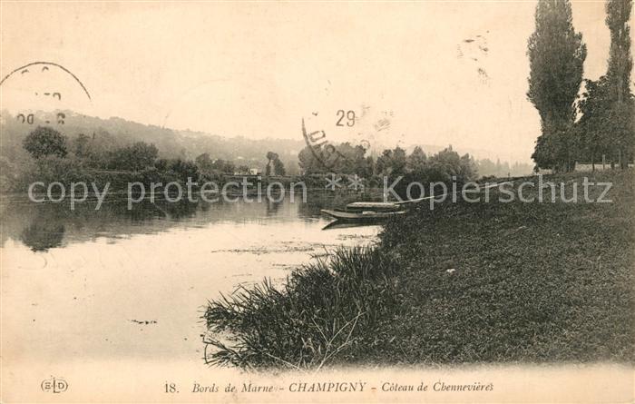 AK / Ansichtskarte Champigny Marne Bords de Marne Coteau de Chennevieres Kat. Champigny
