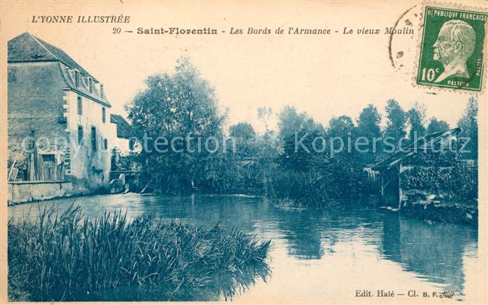 Saint Florentin Yonne Les Bords de l'Armance Le vieux Moulin Kat. Saint Florentin