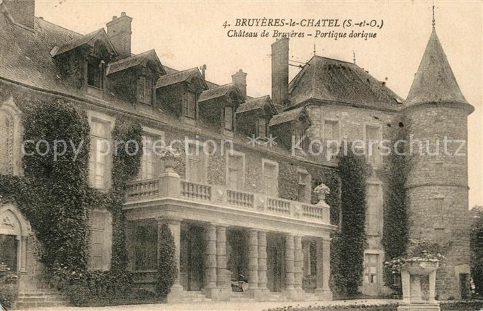 Bruyeres le Chatel Chateau de Bruyeres Portique dorique Kat. Bruyeres le Chatel