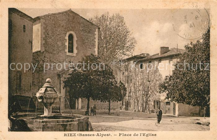 Riez Place de l Eglise Kat. Riez