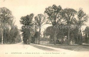 Compiegne Oise Entree de la Foret La Route de Pierrefonds Kat. Compiegne