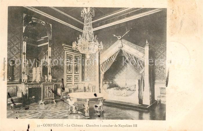 Compiegne Oise Le Chateau Chambre a coucher de Napoleon III Kat ...