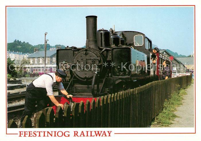 AK / Ansichtskarte Lokomotive Ffestiniog Railway Porthmadog Gwynedd  Kat. Eisenbahn