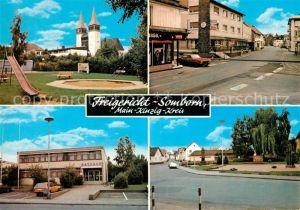 AK / Ansichtskarte Somborn Freigericht Rathaus Kirche Innenstadt