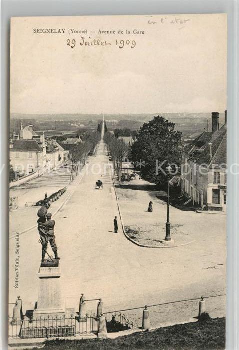 AK / Ansichtskarte Seignelay Avenue de la Gare Kat. Seignelay