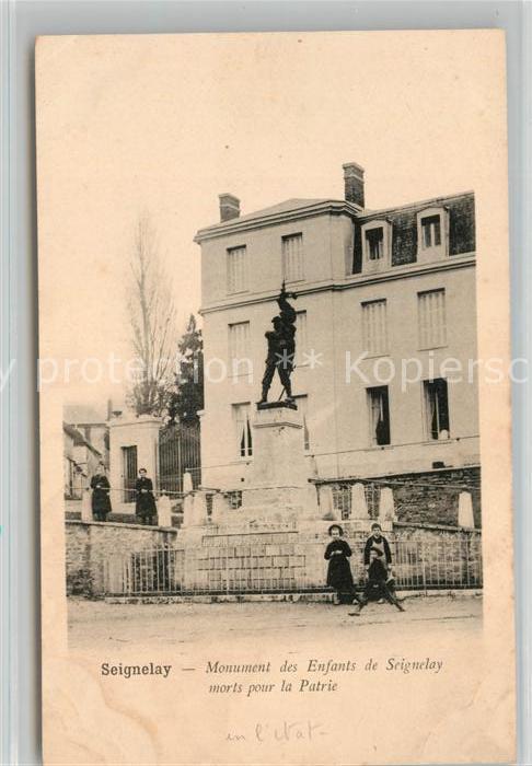 AK / Ansichtskarte Seignelay Monument des Enfants morts pour la Patrie Kat. Seignelay