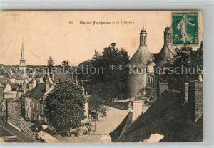 AK / Ansichtskarte Saint Fargeau Yonne et le Chateau Kat. Saint Fargeau