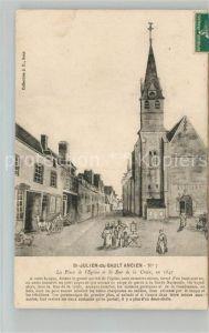 AK / Ansichtskarte Saint Julien du Sault La Place de Eglise et la Rue de la Croix Kat. Saint Julien du Sault