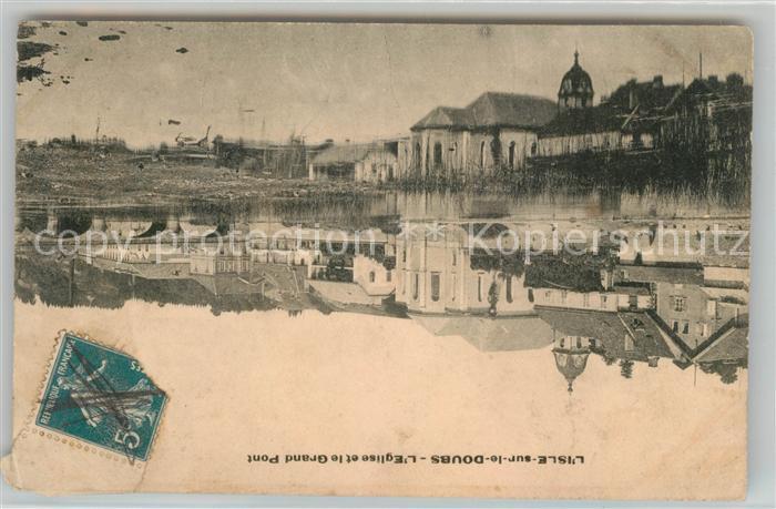 AK / Ansichtskarte L Isle sur le Doubs Eglise et le Grand Pont Kat. L Isle sur le Doubs