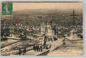 AK / Ansichtskarte Marseille Bouches du Rhone Vue d'ensemble prise de Notre Dame de la Garde