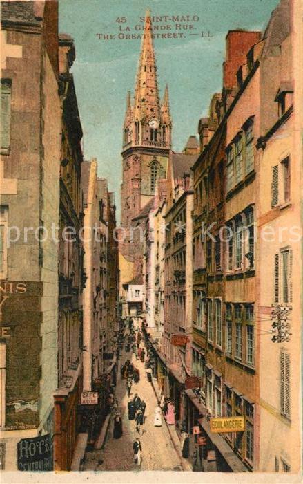 AK / Ansichtskarte Saint Malo Ille et Vilaine Bretagne La Grande Rue Kat. Saint Malo