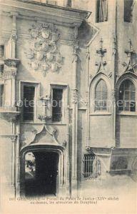 AK / Ansichtskarte Grenoble Portail du Palais de Justice au dessus les armoiries du Dauphine Kat. Grenoble