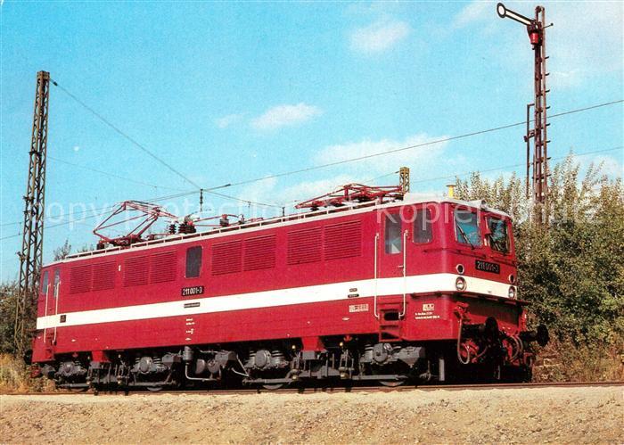 AK / Ansichtskarte Lokomotive Elektrische Schnellzuglokomotive Baureihe 211  Kat. Eisenbahn