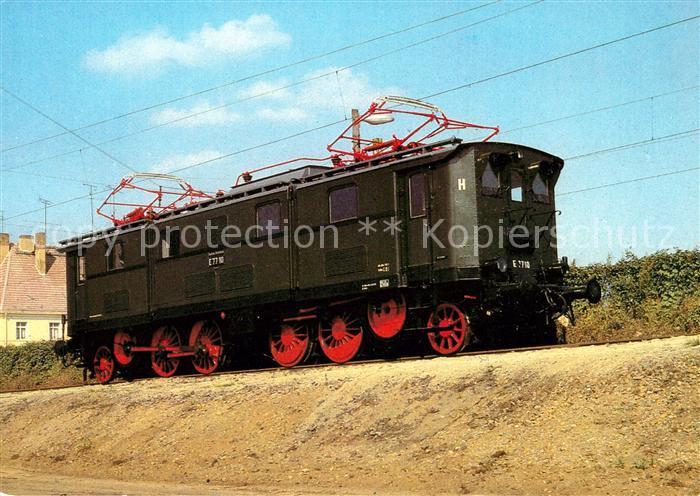 AK / Ansichtskarte Lokomotive Elektrische Gueterzuglokomotive Baureihe E 77 Kat. Eisenbahn