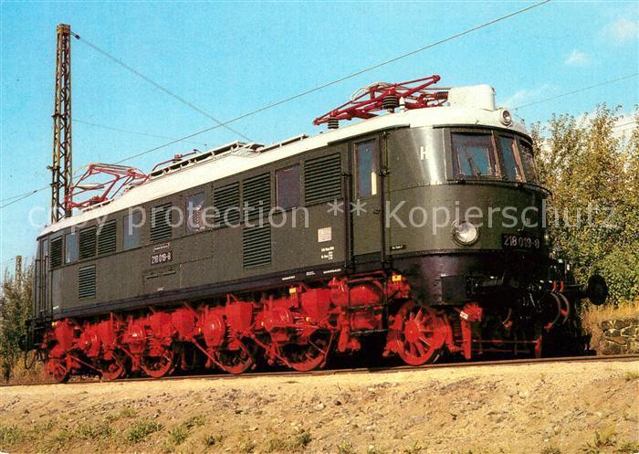 AK / Ansichtskarte Lokomotive Elektrische Schnellzuglokomotive Baureihe 218 Kat. Eisenbahn