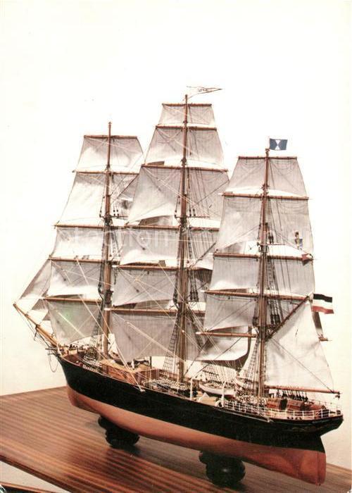 AK / Ansichtskarte Modellbau Flensburger Vollschiff Schiffswerft  Kat. Spielzeug