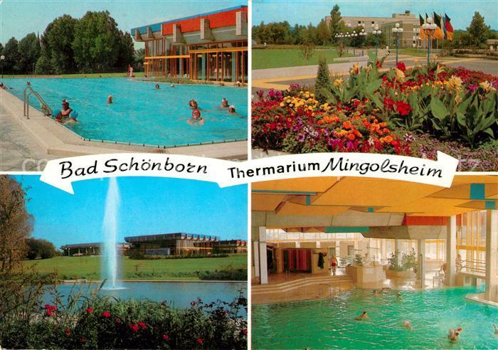 AK / Ansichtskarte Bad Schoenborn Kurpark Schwimmbad