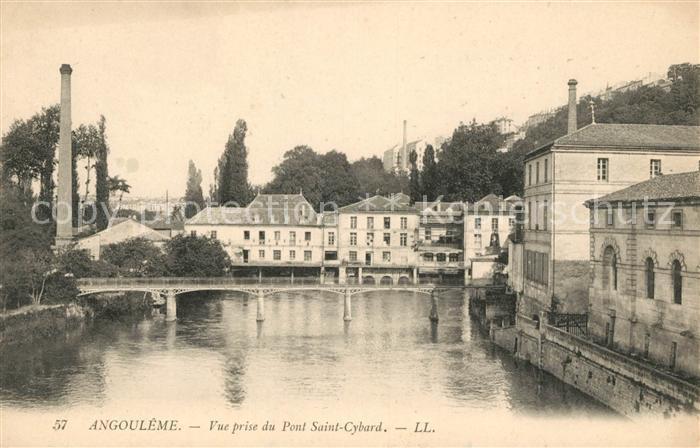 Angouleme Vue prise du Pont Saint Cybard Kat. Angouleme