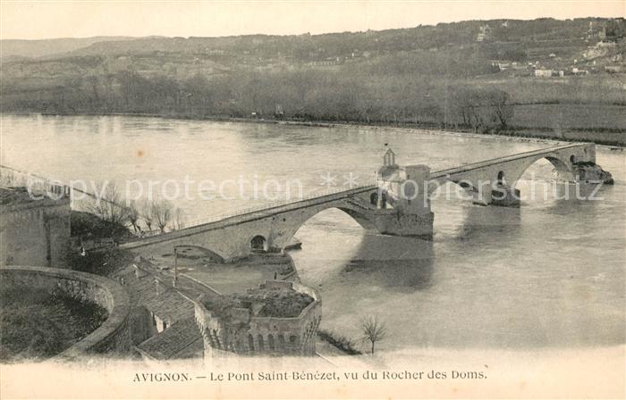 AK / Ansichtskarte Avignon Vaucluse Le Pont Saint Benezet vu du Rocher des Doms Kat. Avignon