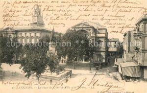 AK / Ansichtskarte Avignon Vaucluse La Place de l'Hotel de Ville et le Theatre Kat. Avignon