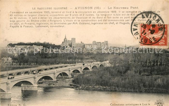 AK / Ansichtskarte Avignon Vaucluse Le Nouveau Pont Kat. Avignon