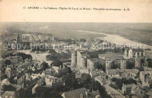 AK / Ansichtskarte Angers Le Chateau Eglise St Laud La Maine Vue aerienne Kat. Angers