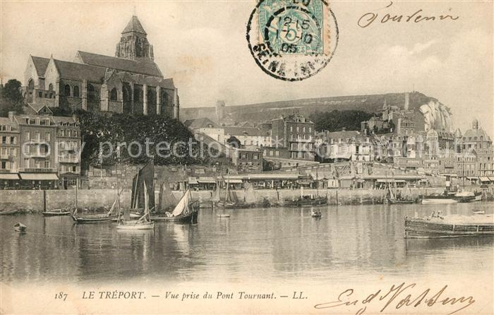 AK / Ansichtskarte Le Treport Vue prise du Pont Tournant Kat. Le Treport