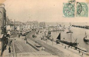 AK / Ansichtskarte Le Treport Vue sur le Port prise du Musoir Kat. Le Treport