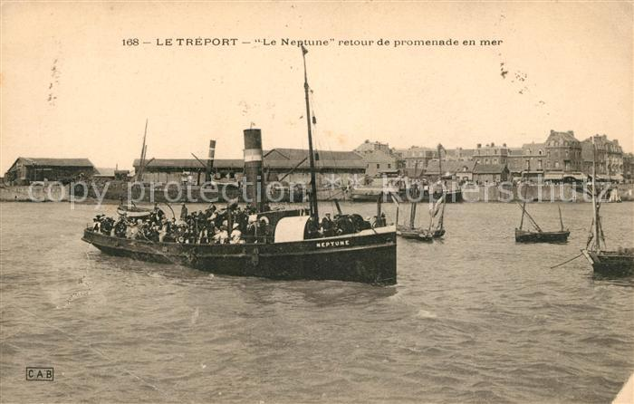 AK / Ansichtskarte Le Treport Le Neptune retour de promenade en mer Kat. Le Treport