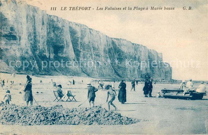 AK / Ansichtskarte Le Treport Les Falaises et la Plage a Maree basse Kat. Le Treport