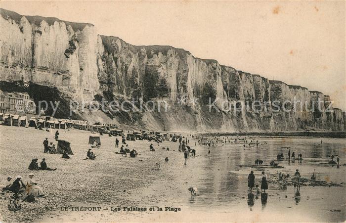 AK / Ansichtskarte Le Treport Les Falaises et la Plage Kat. Le Treport