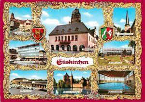 AK / Ansichtskarte Euskirchen Rathaus Martinskirche Bahnhof Kat. Euskirchen